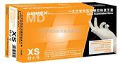 大号 100只/盒美国AMMEX爱马斯一次性医用橡胶手套(标准型,无粉,麻面防滑)