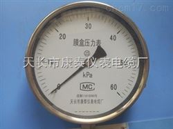 膜盒压力表YE-150 -3-3Mpa