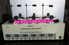 GW-8DF八孔油浴磁力加热搅拌器