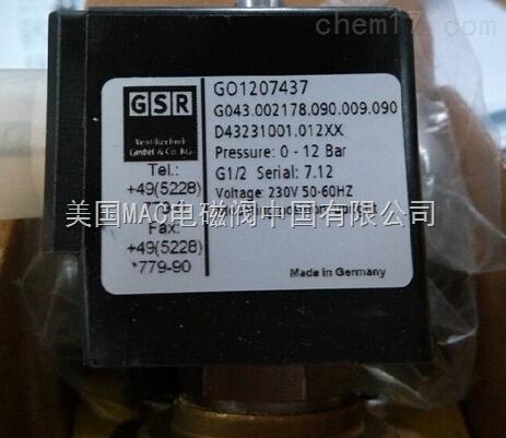 k051189go1014193 德国gsr高温电磁阀g040.002344.090图片
