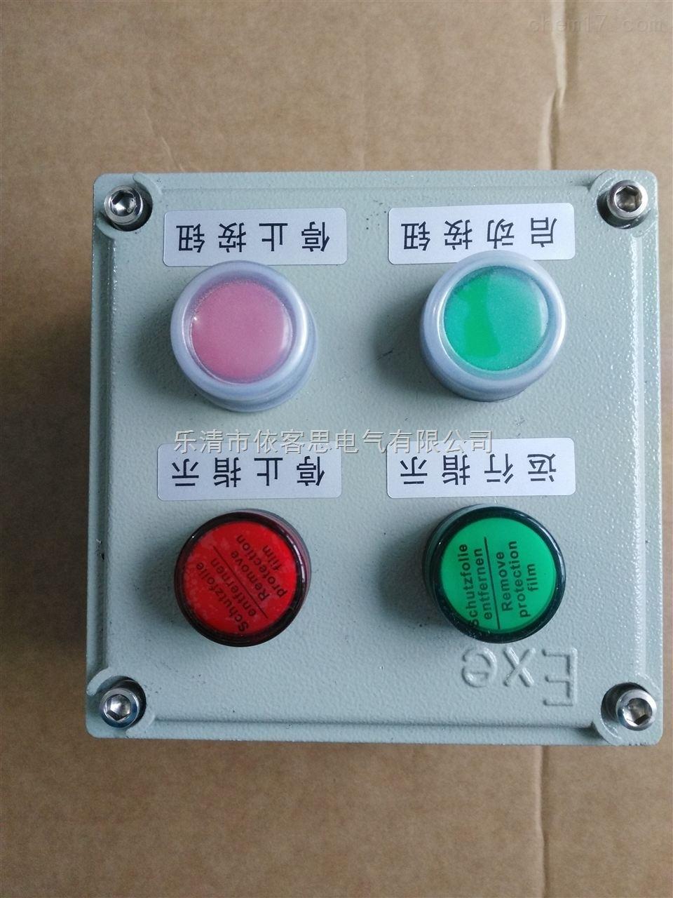 机旁防爆控制按钮盒BZC53-A2D2B1G带指针表防爆就地控制按钮箱