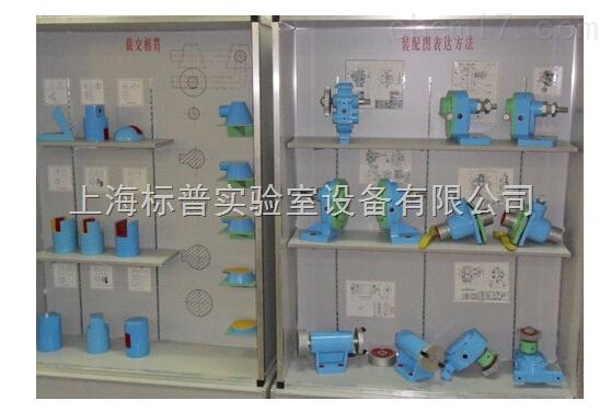 声光,电同步机械原理陈列柜 机械陈列柜机械制图教学模型