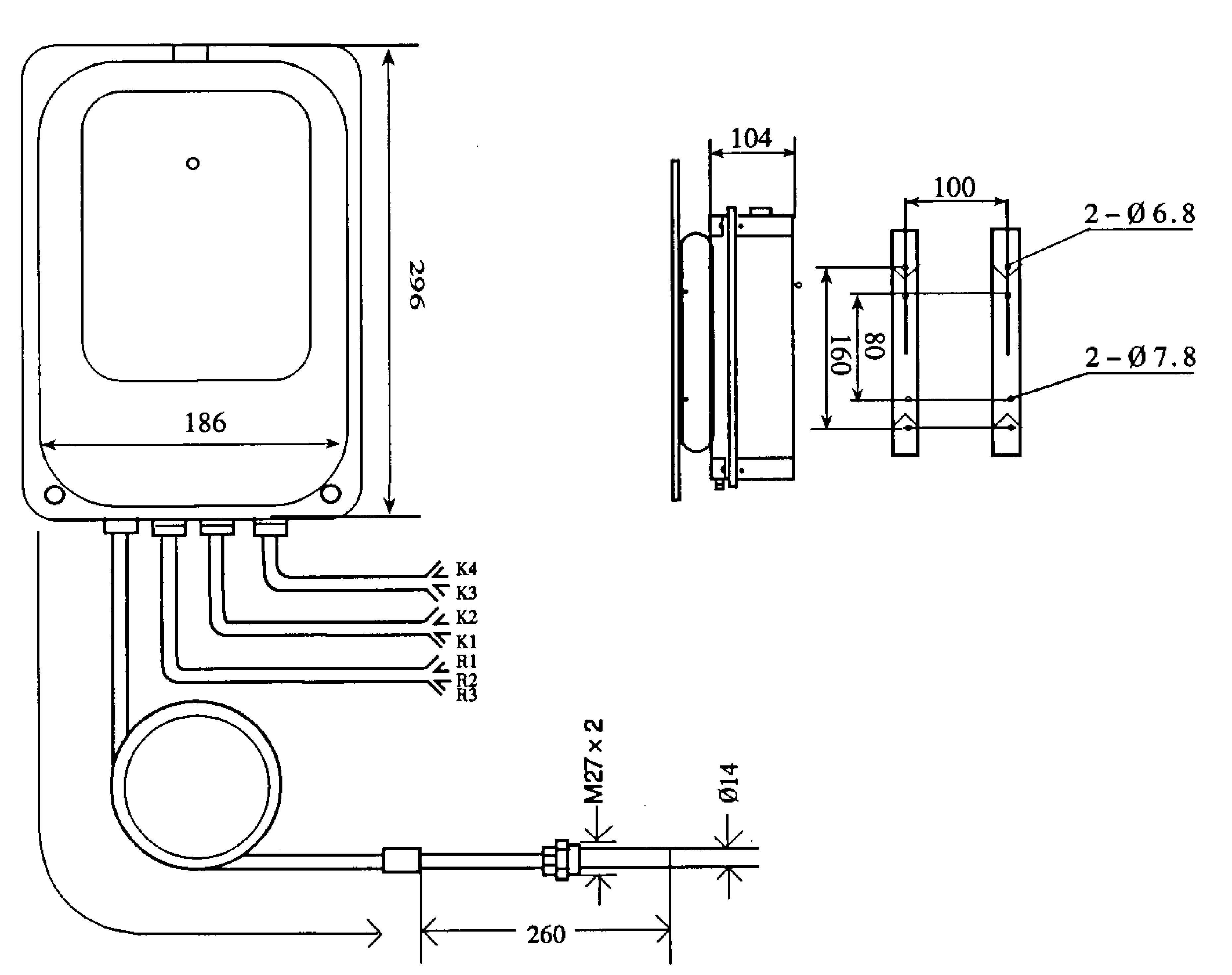 变压器温度计bwy-804a(th)温度指示控制器现货
