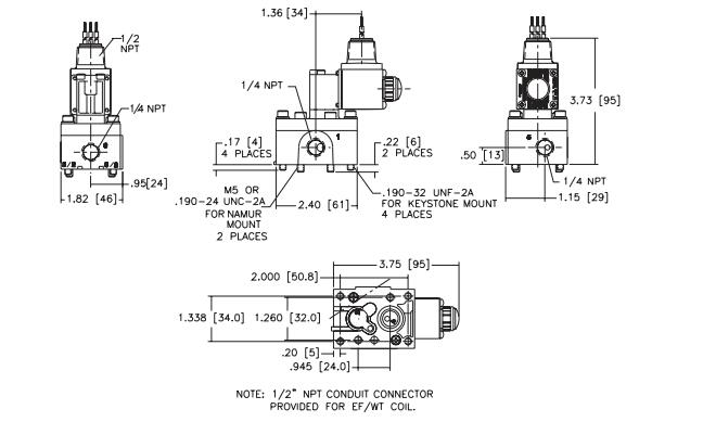asco两位五通电磁阀流动装置原理