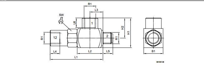 力士乐先导式单向阀压力解决方案0821003050图片
