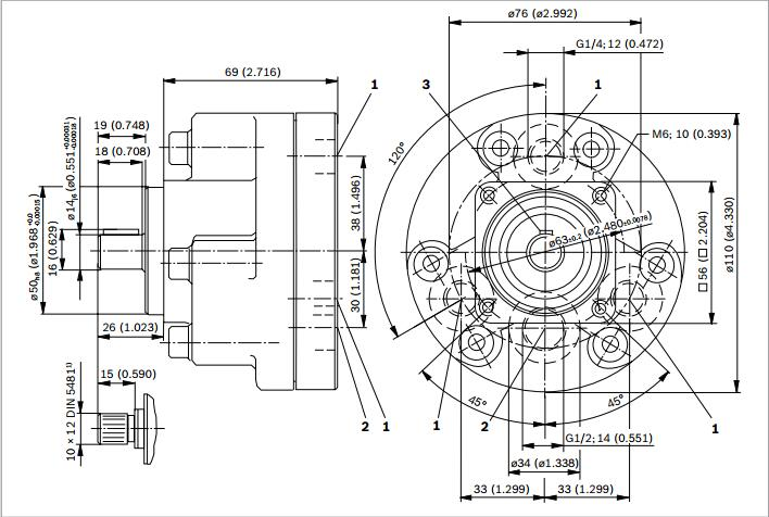rexroth径向柱塞泵安装尺寸资料