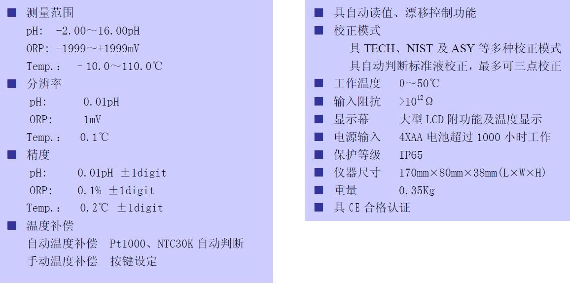 TS-100测量范围