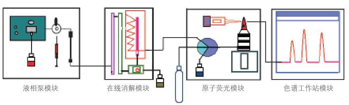 金索坤公司动态液相色谱原子荧光联用仪示意图