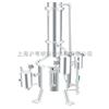 SHZ32-200不锈钢塔式蒸汽重蒸馏水器/上海申安200L蒸汽重蒸馏水器